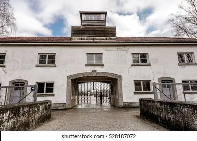 Dachau Concentration Camp - entrance gates