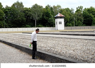 The Dachau Concentration Camp Memorial Site at the former Nazi concentration camp of Dachau, southwestern Germany on July 23, 2017