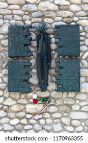 Dachau. Germany. 08.03.16. Memorial to the many thousands who died here in Dachau concentration camp.