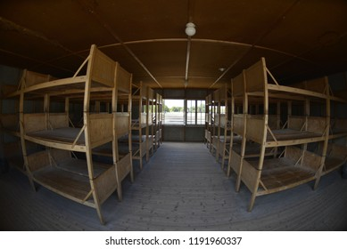 Dachau / Germany - 09/25/2013 : The interior of the Nazi concentration camp in Dachau where millions of Jews were killed during the Nazi Holocaust