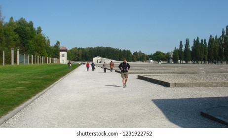 Dachau, Germany - Circa 2008: Inside Dachau concentration camp.