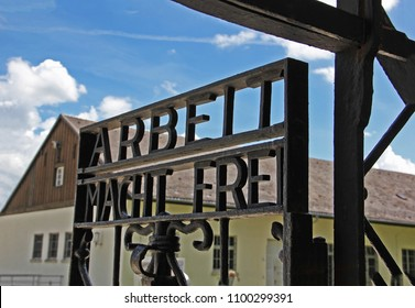 Dachau / Germany - July 15, 2014:  Dachau concentration camp was the first of the Nazi concentration camps opened in Germany.