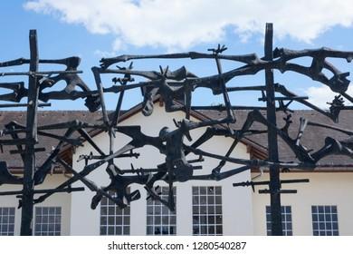 Dachau, Germany, June 27 2018: Focus on Sculpture at Dachau