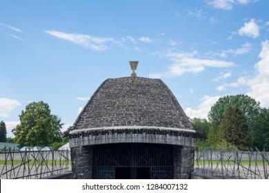Dachau, Germany, June 27 2018: Jewish Memorial at Concentration Camp Dachau