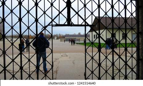Dachau/Germany- 2014: Dachau Concentration Camp in Germany