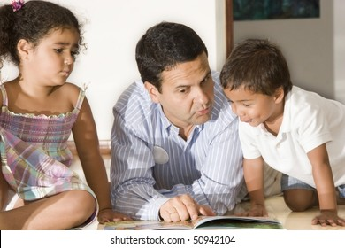 Dad and children