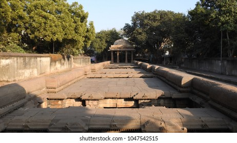 Dada Harir Stepwell (upper view) in Asarwa area of Ahmedabad, Gujarat State, India.