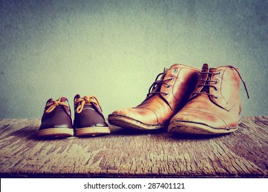 Daddy's boots and baby's shoes