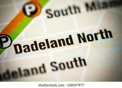 Dadeland North Station. Miami Metro map.