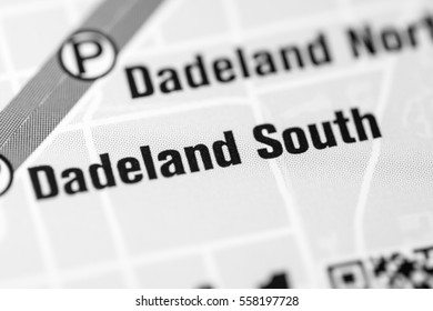 Dadeland South Station. Miami Metro map.
