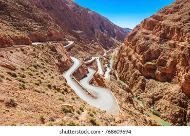 Dades Gorge is a gorge of the Dades River, and lies between the Atlas Mountains and the Jbel Saghro of the Anti Atlas mountain range in Morocco.