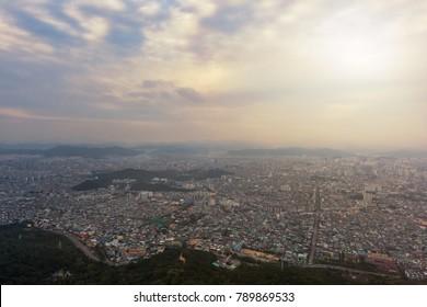 Daegu City, Apsan Park the best view, Daegu Tower in South Korea.