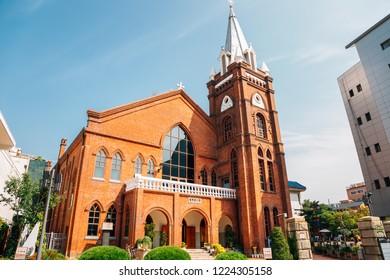 Daegu, Korea - September 22, 2018 : Daegu Jeil Church at Namseong-ro