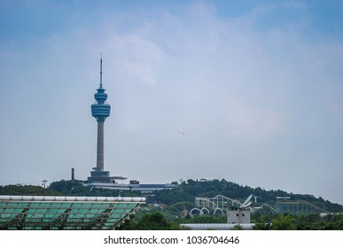 Daegu, South Korea - July 26, 2008 : 83 Tower is a landmark of Daegu and offers incredible views of the entire city.