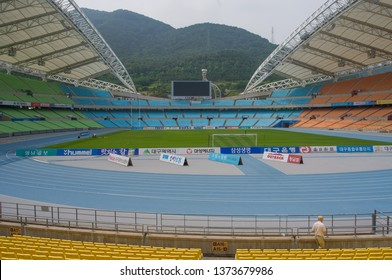 DAEGU / SOUTH KOREA - JUNE 26, 2013:  Daegu Stadium - hosted the FIFA World Cup and World Championships in Athletics