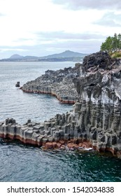 Daepo Jusangjeolli Cliffs, Jeju island, South Korea