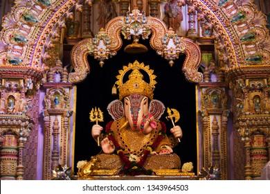 Dagdusheth Halwai Ganpati, Pune District, Maharashtra state of India