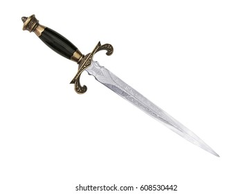 Dagger Fantasy Adventure. sword on white background.