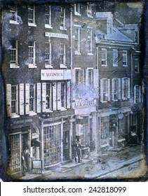 Daguerreotype of No. 46 to No. 52, Chestnut Street, Philadelphia, Pennsylvania 1843