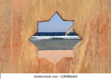 Dahab beach  through a tiny window