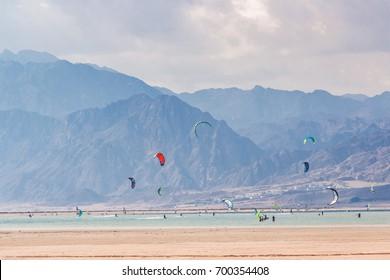 Dahab, Sinai Peninsula, Egypt, Mountains and Coast of red sea