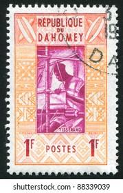 DAHOMEY - CIRCA 1961: stamp printed by Dahomey, shows Weaver, circa 1961