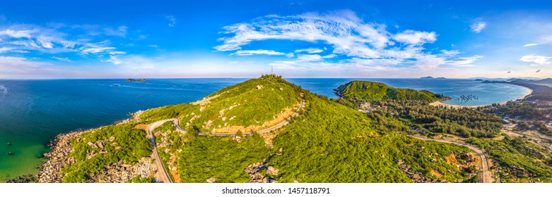 Dahua Jiao Dahuajiao Panoramic Scenic Spot, Cape Landscape Aerial View of Wanning County, Eastern Coastline of Hainan Island, China