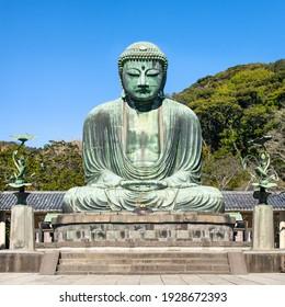 Daibutsu (Giant Buddha) staute in Kamakura, Japan