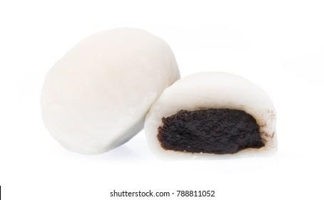 Daifuku cake isolated on white background