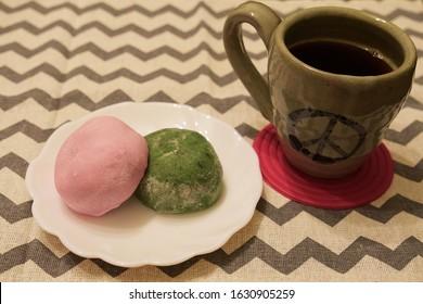 Daifuku and coffee cafe time