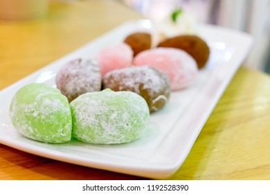 Daifukumochi, or Daifuku, is a Japanese confection consisting of a small round mochi stuffed with sweet filling