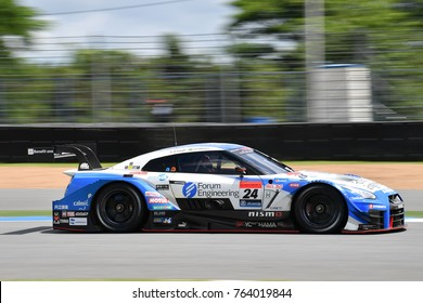 Daiki Sasaki of Kondo Racing drives qualifying  during the Autobacs Super GT 500 Round7 at Chang International Circuit on October 07,2017 in Buriram,Thailand