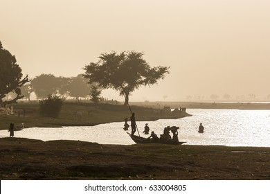 Daily activities on the river Banks, Niger River, Segou, Mali