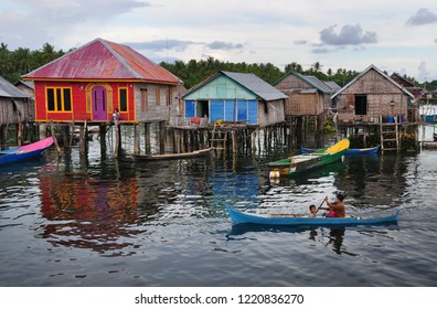Daily Activity in Bajo Village, Wakatobi Island Indonesia (2018). Floating house and ocean is their front and bakuard. They preserve local wisdom and their life closed with ocean.