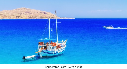 Daily cruise ship in the Mediterranean Sea off the coast of Rhode Island