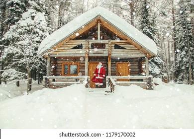 The daily life of Santa Claus. Home of Santa Claus at the North Pole.