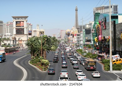 The daily traffic on the Las Vegas Strip