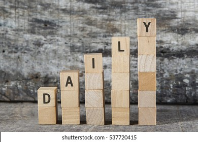 DAILY word on building block