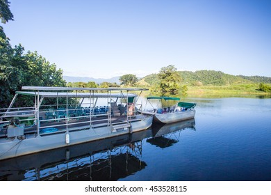 Daintree River cruises near the town of Daintree in far nth Queensland, Australia