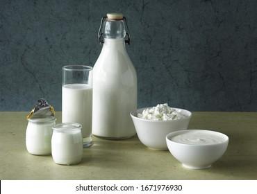 Dairy Products, Cream, Milk, Soft cheese, Yogurt