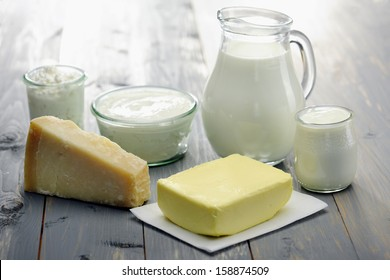 Dairy Products, milk,cheese,ricotta, yogurt and butter
