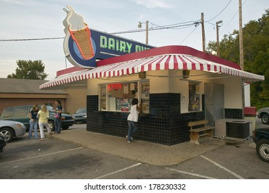 Dairy Queen Ice Cream shop in Central GA along highway 22 in Southeast USA