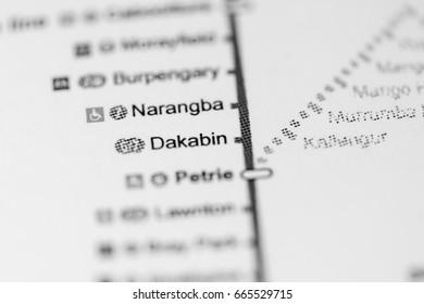 Dakabin Station. Brisbane Metro map.