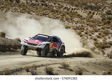 Dakar Rally 2017 in Paraguay, Argentina, Bolivia. 2/14 Jenuary 2017. Stephane Peterhansel/Jean Paul Cottret, Peugeot, Dakar winners. 13 victory in Dakar Rally for Peterhansel.