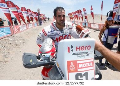 Dakar Rally 2018. Peru, Bolivia, Argentina. From Lima to Cordoba. 6/20 Jenuary 2018. Oriol Mena, Spain, Hero Motorsport.