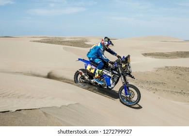Dakar Rally 2018. Peru, Bolivia, Argentina. From Lima to Cordoba. 6/20 Jenuary 2018. Adrien Van Beveren, France, Yamaha.