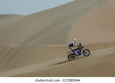 Dakar Rally 2018. Peru, Bolivia, Argentina. From Lima to Cordoba. 6/20 Jenuary 2018. Xavier de Soultrait, France, Yamaha.
