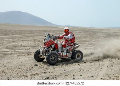 Dakar Rally 2018. Peru, Bolivia, Argentina. From Lima to Cordoba. 6/20 Jenuary 2018. Rafal Sonik, Poland, Yamaha.