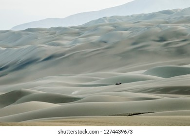 Dakar Rally 2018. Peru, Bolivia, Argentina. From Lima to Cordoba. 6/20 Jenuary 2018. Peugeot car in the dunes of Peru.