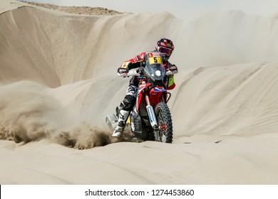 Dakar Rally 2018. Peru, Bolivia, Argentina. From Lima to Cordoba. 6/20 Jenuary 2018. Joan Barreda, Spain, Honda.